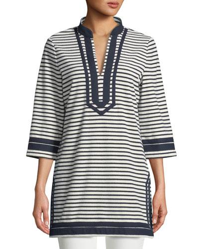 Tory Striped Cotton Tunic