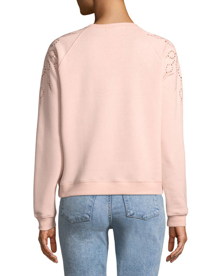 Zoe Embroidered Pullover Sweatshirt