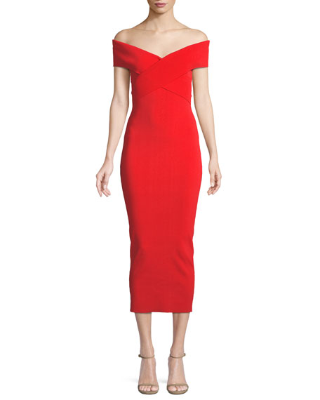 Cecile Off-the-Shoulder Body-Con Cocktail Dress