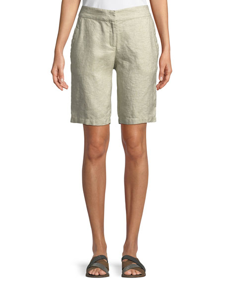 Twinkle Linen-Blend Walking Shorts