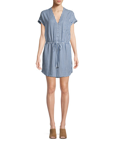 Haidee V-Neck Striped Dress