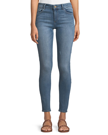 1961 Florence Instasculpt Two-Tone Skinny Jeans, Blue