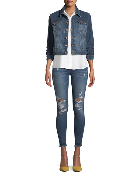 Emma Power Distressed Skinny Jeans