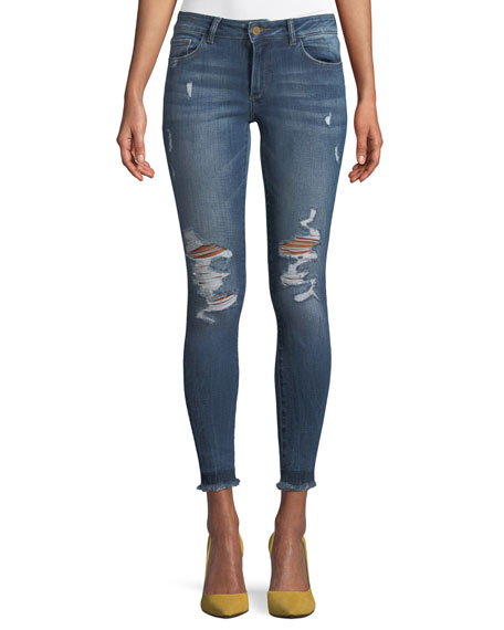 DL1961 Premium Denim Emma Power Distressed Skinny-Leg Jeans