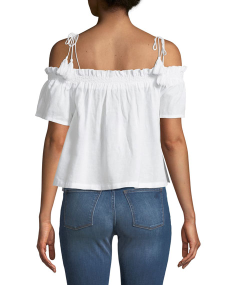 Cornelia Off-the-Shoulder Linen Top