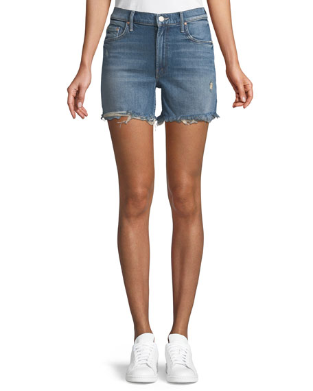 Mother Sinner Denim Shorts w/ Fray