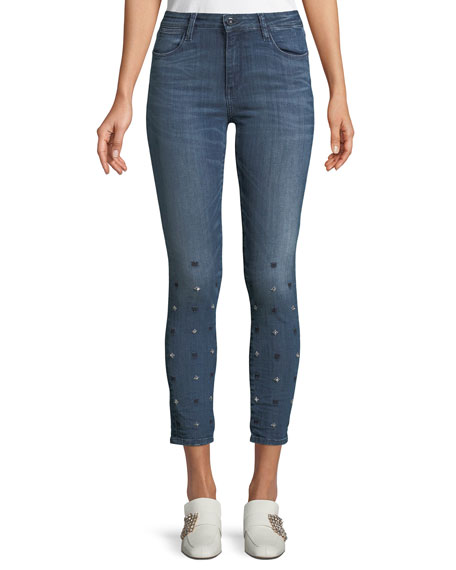 Brockenbow Reina Star-Ice Skinny Crop Jeans