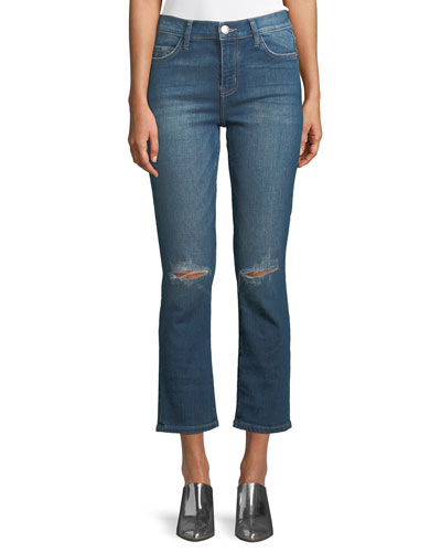 The High Waist Straight-Leg Cropped Jeans