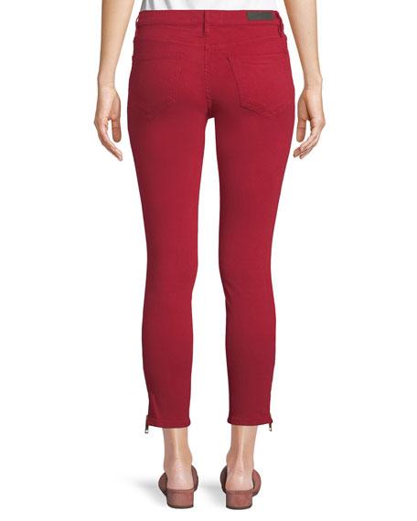 Mid-Rise Skinny Jeans w/ Side-Zip Hem