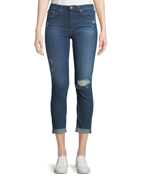 AG Adriano Goldschmied Prima Mid-Rise Skinny Crop Roll-Up