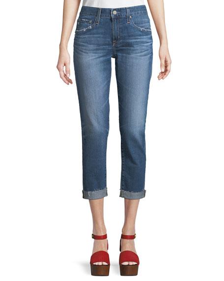 Ex-Boyfriend Mid-Rise Slim Crop Jeans