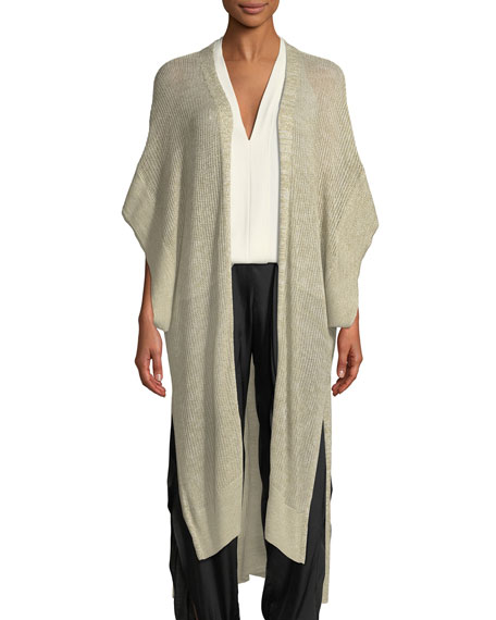 Short-Sleeve Kaftan Cardigan