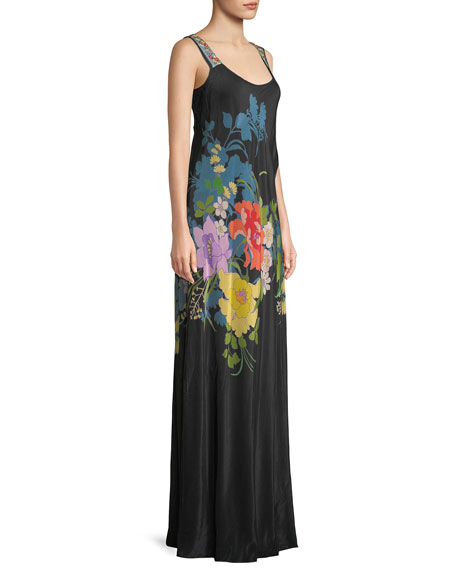 Fusion Sleeveless Floral-Print Maxi Dress