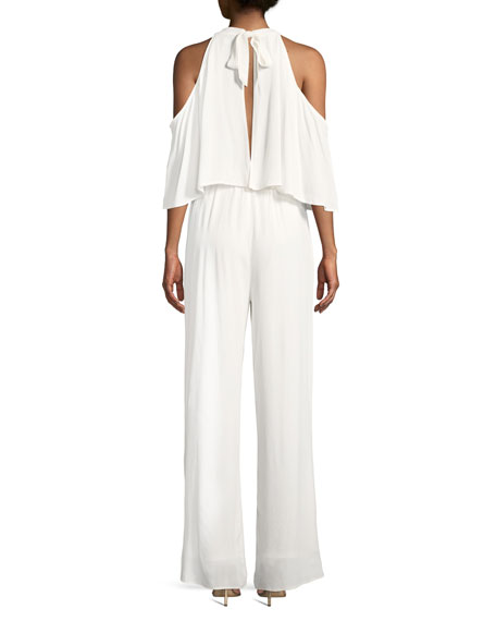 Malu Cold-Shoulder Wide-Leg Jumpsuit
