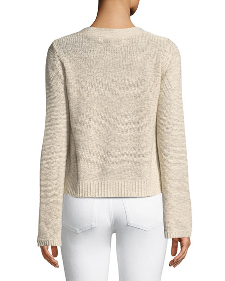 Calida Long-Sleeve Lace-Up Sweater