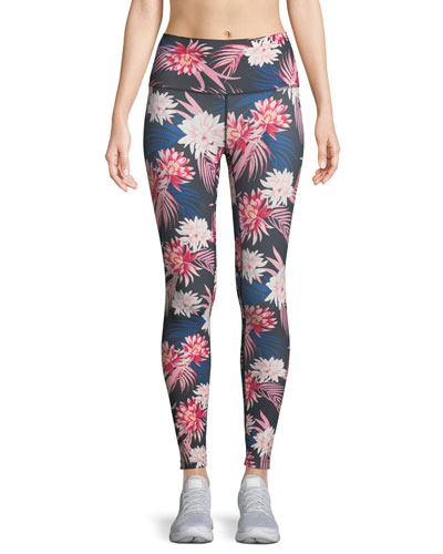Tropics High Vibe Floral-Print Leggings
