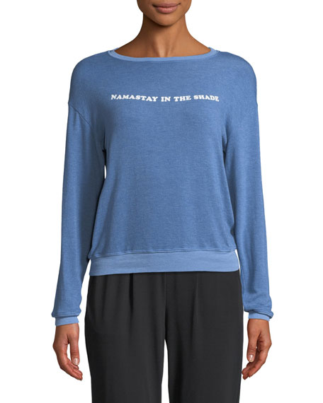 Namastay In The Shade Savasana Crewneck Long-Sleeve Pullover