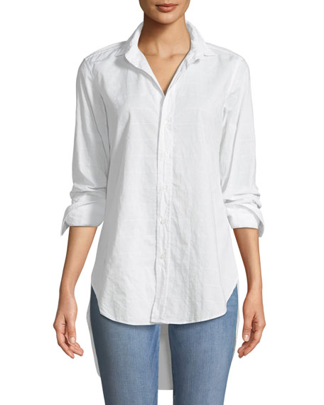 Frank & Eileen Grayson High-Low Button-Down Shirt