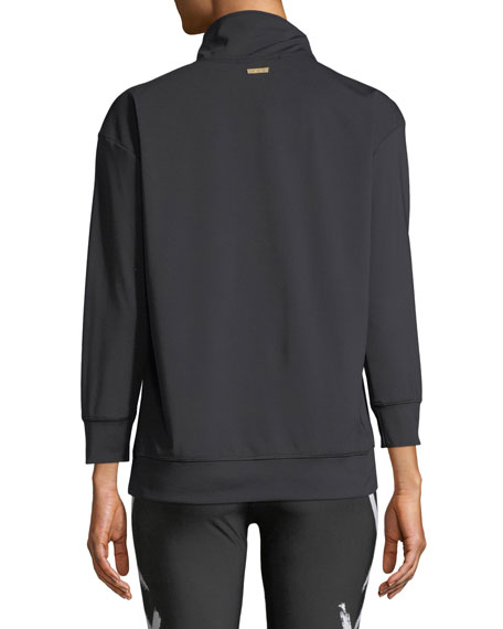 Quarter Zip Long-Sleeve Pullover Jacket