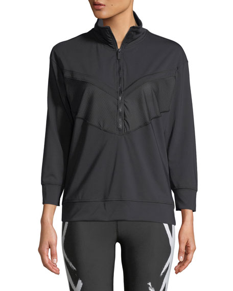 Quarter Zip Long-Sleeve Pullover Jacket
