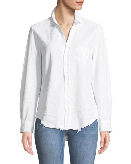 Eileen Long-Sleeve Button-Front Cotton Shirt