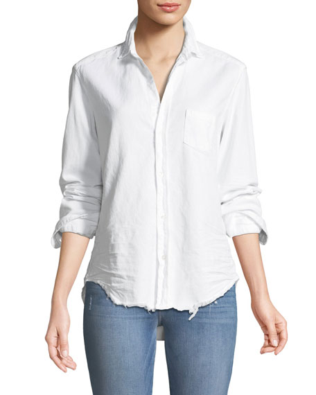 Frank & Eileen Eileen Long-Sleeve Button-Front Cotton Shirt