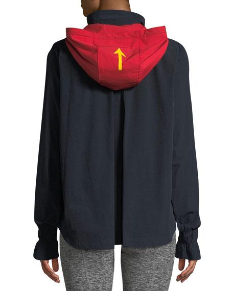 Andre Hooded Zip-Front Anorak Jacket