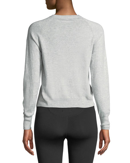 Wilder Knit Long-Sleeve Crewneck Sweater