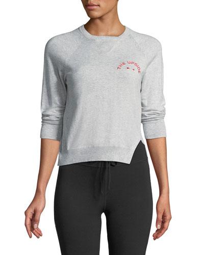 Wilder Knit Long-Sleeve Crewneck Sweater