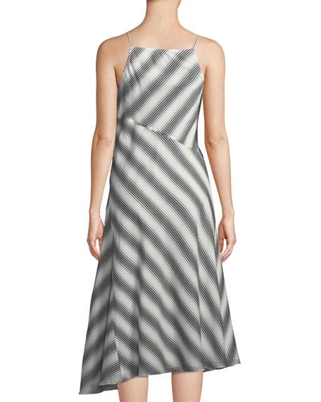 Summer Athens Spaghetti-Strap Striped Dress