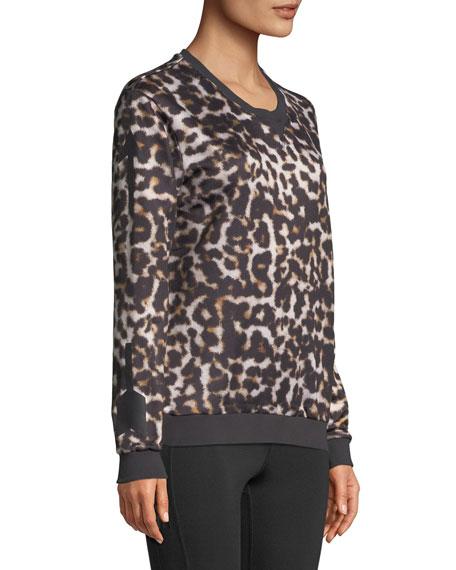 Lulu Leopard-Print Crewneck Sweatshirt