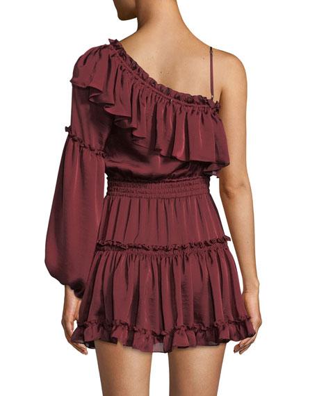 Lucien Off-the-Shoulder Satin Mini Dress