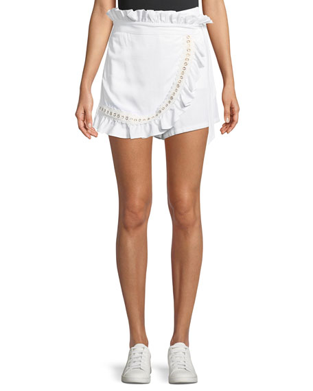 MISA Los Angeles Neli High-Waist Ruffle Wrap Skort