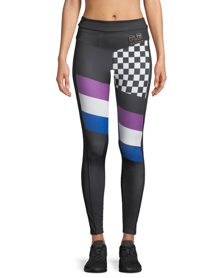 PE Nation The Check Hook Printed 7/8 Leggings