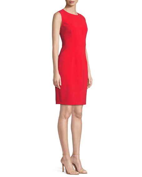 Tera Round-Neck Sheath Dress