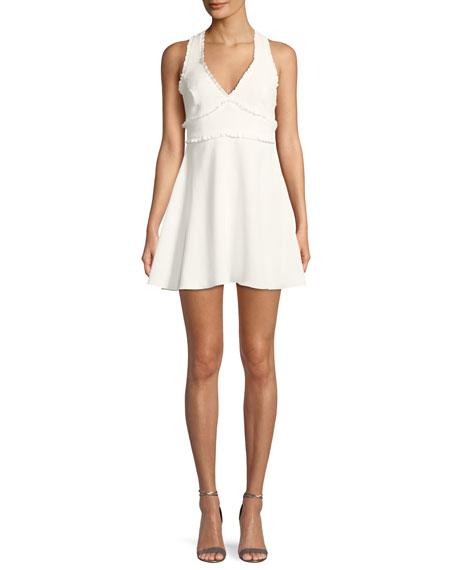 Likely Knolls V-Neck Sleeveless Fit-and-Flare Dress w/ Ruffled