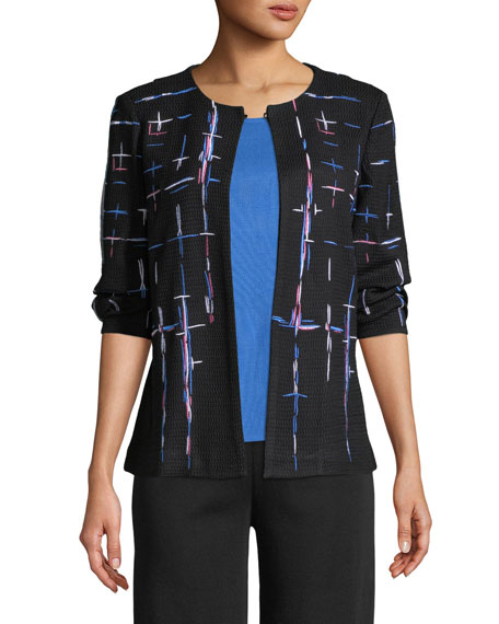 Shaded Lines Jacket, Plus Size