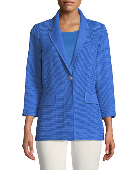Textured Button-Front Jacket