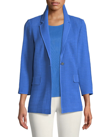 Misook Textured Button-Front Jacket and Matching Items
