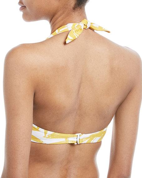 Printed Halter Swim Top