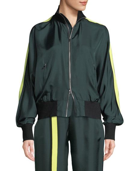 Robert Rodriguez Silk Zip-Front Track Jacket and Matching