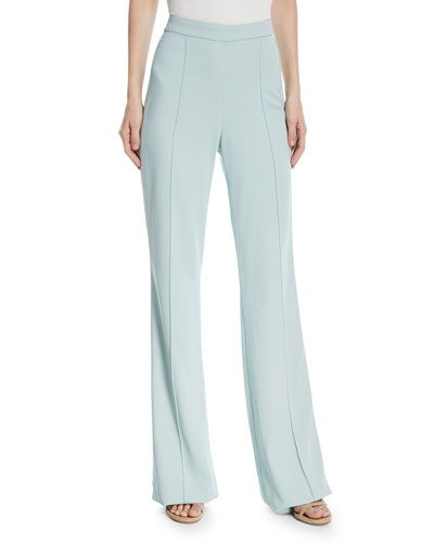 Jalisa High-Waist Fitted Flared Lined Pants