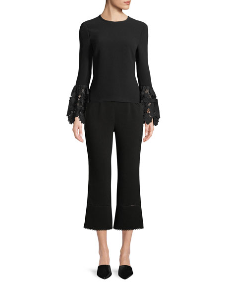 Michelle Cropped Flared-Leg Pants