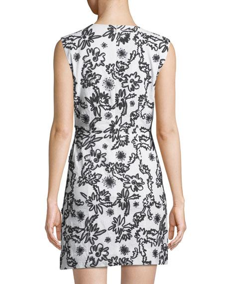 Shari Squiggle Sleeveless Mini Dress