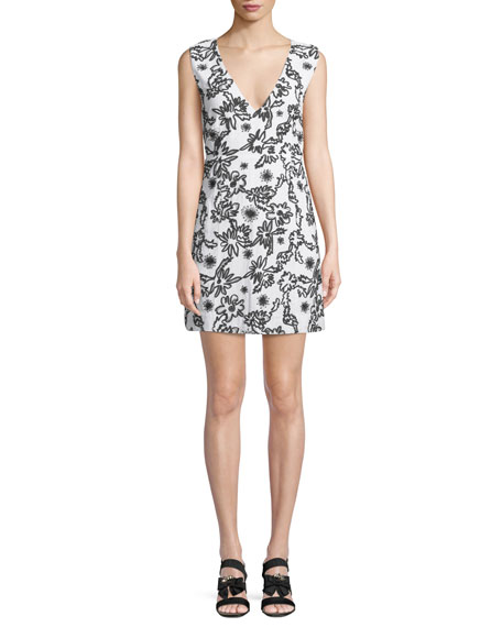 Shari Squiggle Sleeveless Mini Dress