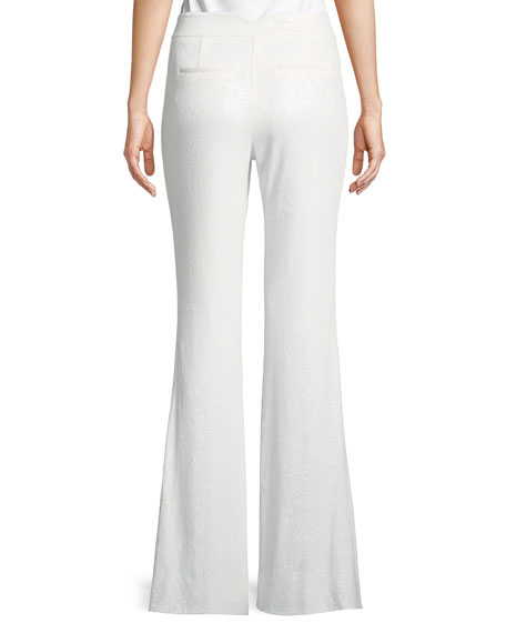 Linda Sequin Wide-Leg Pants