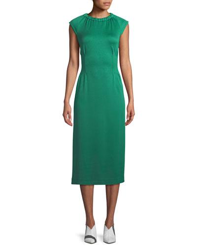 Astor Crewneck Sleeveless Knit Midi Dress