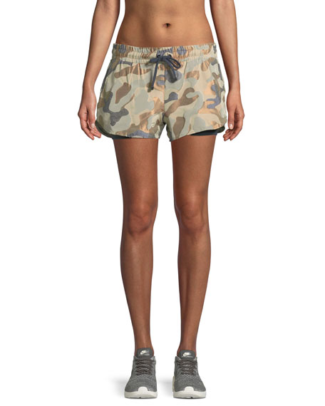 Koral Activewear Sand Damask Running Shorts