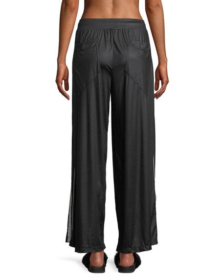 Loop Wide-Leg Drawstring Pants