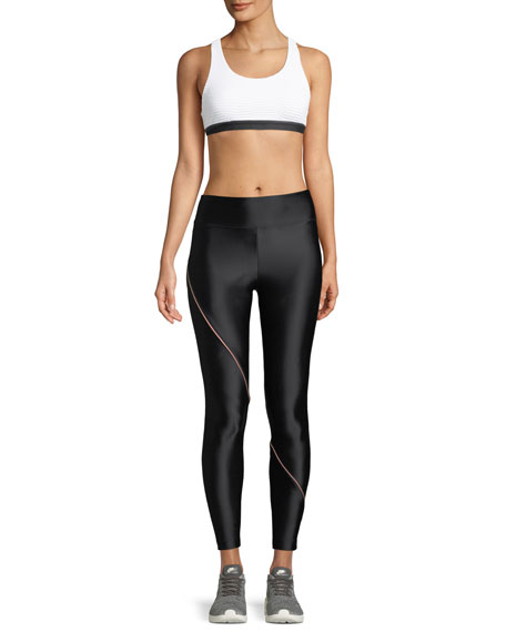 Image 3 of 3: Street Full-Length Leggings with Contrast Piping